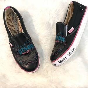 KITSON Leather Slip Ons Shoes Sneakers Mean Girls